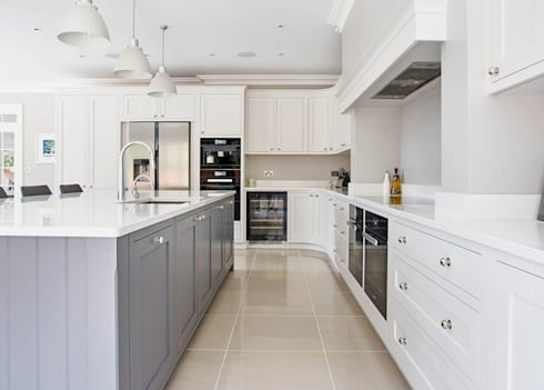 Modern Shaker Kitchen: modern Kitchen by Stonehouse Handmade Bespoke Kitchens