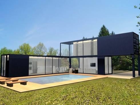 Projeto casa container por priscilla borges arquitetura for Casas de container modernas