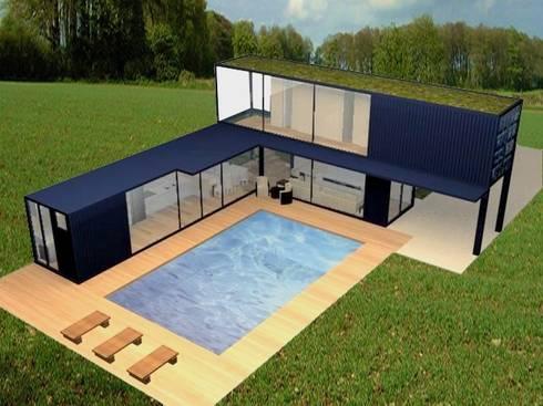 Projeto casa container de priscilla borges arquitetura e - Casa container italia ...