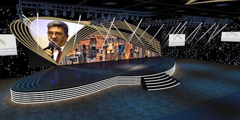Business award Event:  Event venues by Gurooji Design