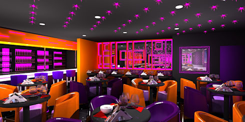 Antakshari Night club:  Bars & clubs by Gurooji Design