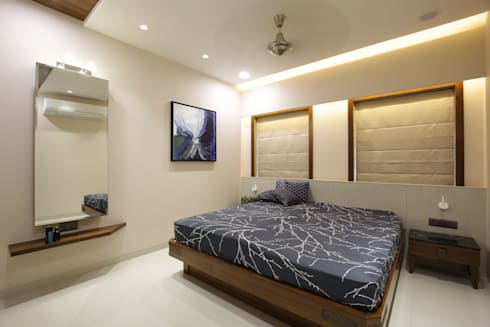 Mr vora's flat: asian Bedroom by studio 7 designs