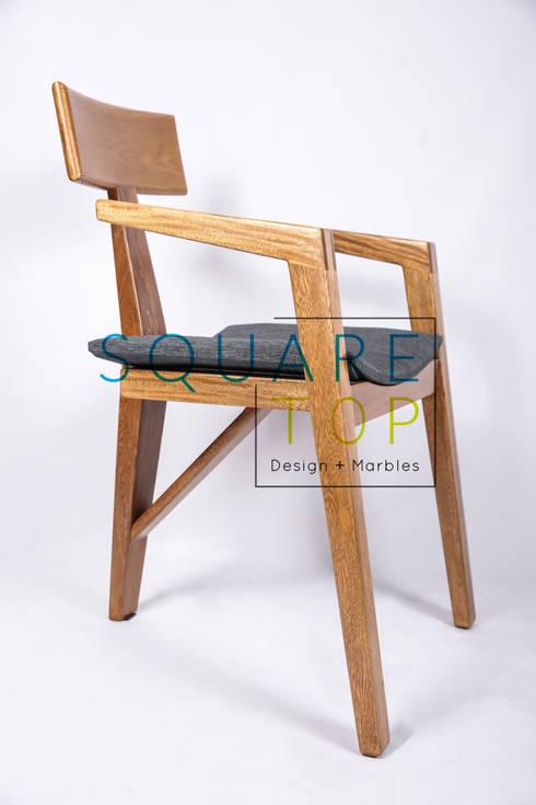 Silla Versilia, telas importadas.: Hogar de estilo  por SquareTop Design