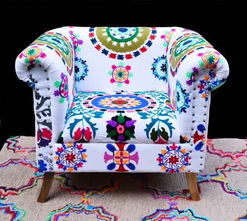 Poltrona tejida a mano de india : Hogar de estilo  por SARRIA HOME