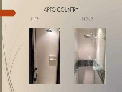 Ducha habitaciones:  de estilo  por Erick Becerra Arquitecto