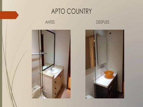 Baño habitacion principal:  de estilo  por Erick Becerra Arquitecto