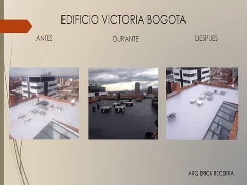 Cubierta:  de estilo  por Erick Becerra Arquitecto