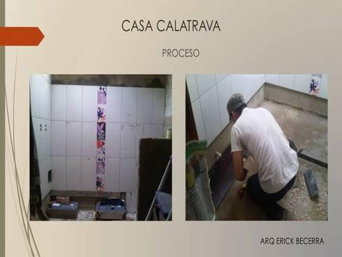 Proceso Baño Habitaciones:  de estilo  por Erick Becerra Arquitecto