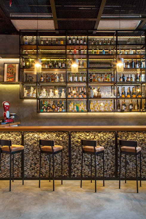 Bares y clubs de estilo  por Jean de Just design de interiores