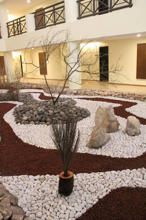Hardscape jardines secos occidental xcaret de david for Jardines secos diseno