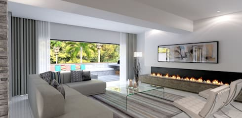 House St Andrews: modern Living room by Principia Design