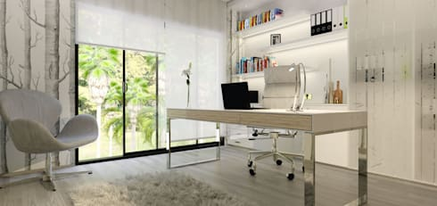 House St Andrews: modern Study/office by Principia Design