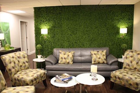 Nice Accent Wall Made By Artificial Boxwood:  Interior landscaping by Sunwing Industrial Co., Ltd.