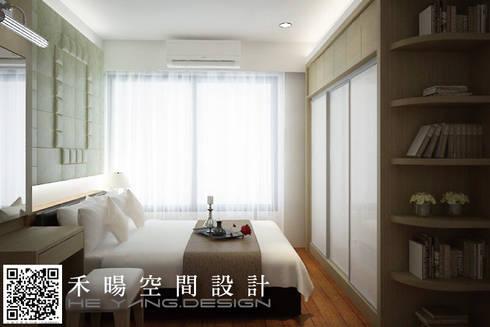 如同母親懷中溫柔的擁抱:  臥室 by 禾暘空間設計