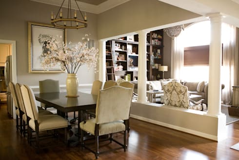 Star Power - Dining Room: classic Dining room by Lorna Gross Interior Design