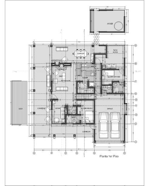 CASA DE CAMPO GUARNE_ : Casas de estilo  por tresarquitectos