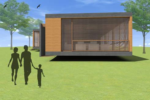 CASA ALGARROBO: Casas de estilo moderno por Arc Arquitectura