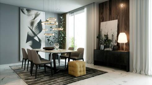 Living room:  غرفة السفرة تنفيذ Accurate Curves