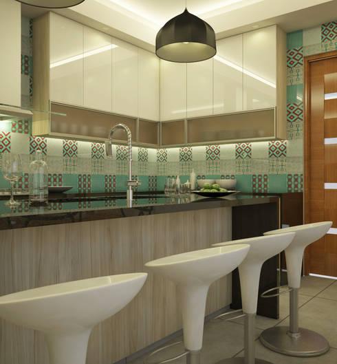 Detalle de Mobiliario en Cocina : Cocinas de estilo moderno por Spacio5