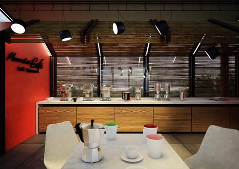 MOMENTOS DE CAFÉ _ Colcafé: Comedores de estilo rústico por tresarquitectos