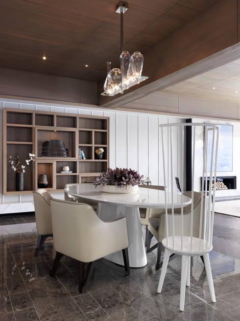 海洋都心3:  餐廳 by 大觀室內設計工程有限公司