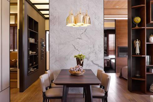 上河園:  餐廳 by 大觀室內設計工程有限公司