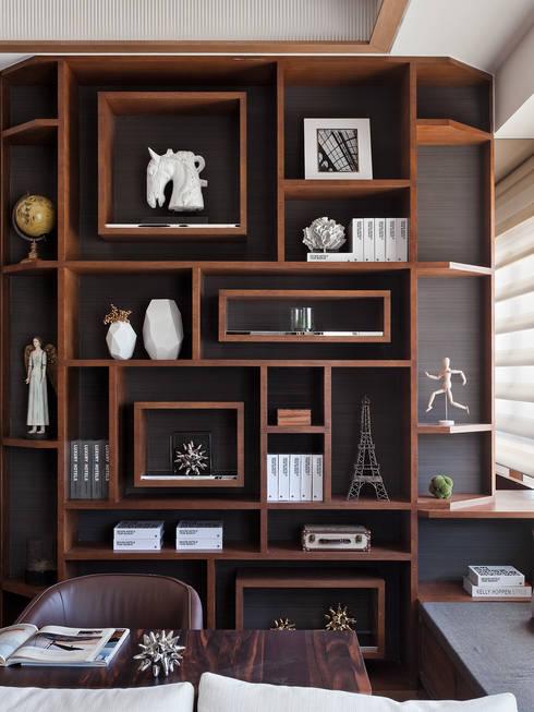 上河園:  書房/辦公室 by 大觀室內設計工程有限公司