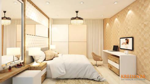 Master Bedroom: modern Bedroom by Kredenza Interior Studios