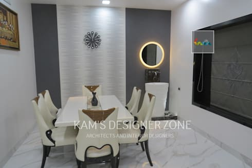 Dining Area: modern Dining room by KAM'S DESIGNER ZONE