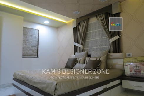 Bedroom Interior Design: modern Bedroom by KAM'S DESIGNER ZONE
