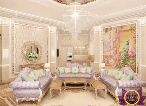 Beautiful living room from Katrina Antonovich: classic Living room by Luxury Antonovich Design