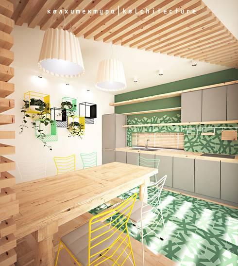 Архитектурное бюро Колхитектура — проект для дома ТехноНИКОЛЬ: Кухни в . Автор – Open Village