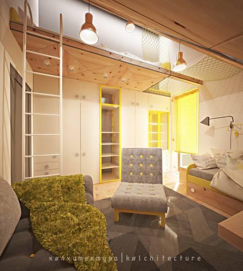 Архитектурное бюро Колхитектура — проект для дома ТехноНИКОЛЬ: Спальни в . Автор – Open Village