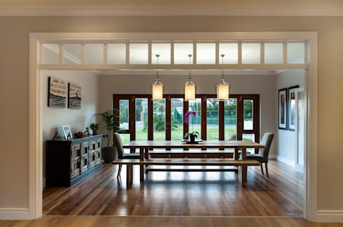 House Fourie: country Dining room by Muse Architects