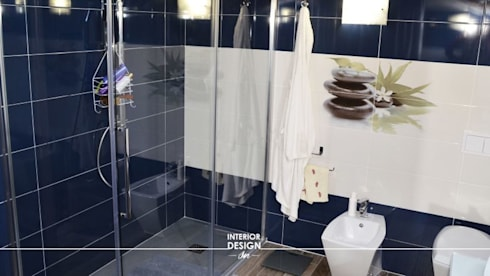 Bagno in camera moderno villa roma di interior design sn - Bagno in camera moderno ...