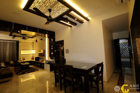Dr Burte: asian Dining room by NMD Interiors