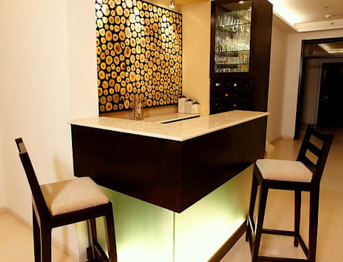 An apartment in Palm springs, Gurgaon: modern Wine cellar by stonehenge designs