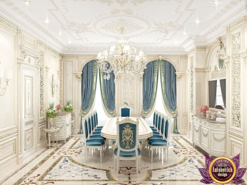Dining room interior  design by Katrina Antonovich.: classic Dining room by Luxury Antonovich Design