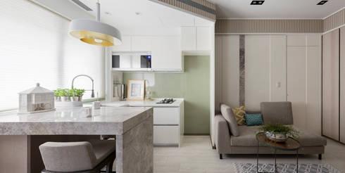私宅-綠溢:  餐廳 by 思為設計 SW Design