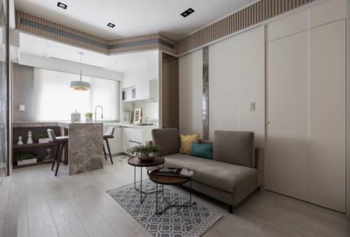 私宅-綠溢:  客廳 by 思為設計 SW Design