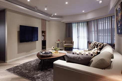 曲折 unfold:  客廳 by 耀昀創意設計有限公司/Alfonso Ideas