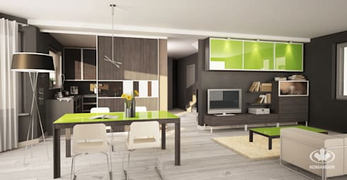 classic living room by komandor ekspert od zabudowy wntrz