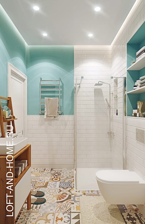 КЕМБРИДЖ, УЮТНЫЙ ЛОФТ: Ванные комнаты в . Автор – Loft&Home