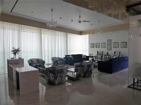 Living Room: eclectic Dining room by bhatia.jyoti