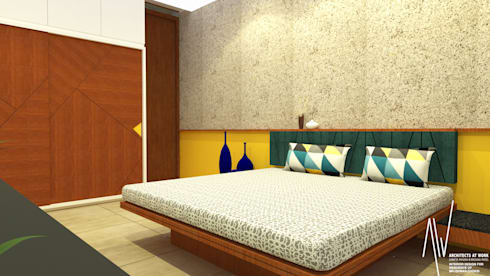 Interior of Ishwarbhai: modern Bedroom by Architects at Work
