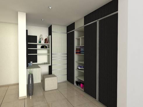 Vestiers: Dormitorios de estilo  por Arquitectura Marcel Rivero