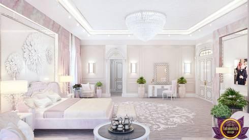   Luxurious bedroom interior of Katrina Antonovich: modern Bedroom by Luxury Antonovich Design