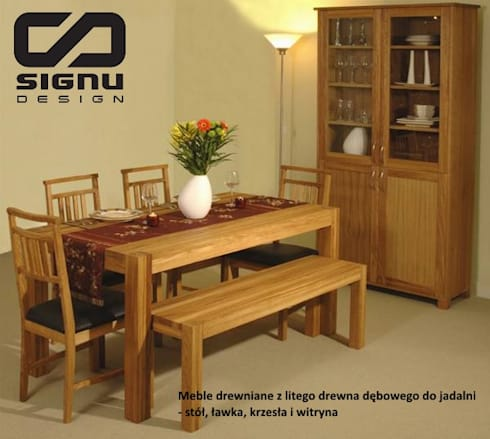 sto y i krzes a drewniane do salonu i jadalni profesjonalista signu design homify. Black Bedroom Furniture Sets. Home Design Ideas