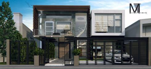 Render propuesta fachada casa habitacion nivel for Casa moderno kl