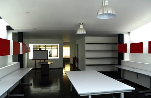 OFICINAS DE LA FUNDACION CATALINA MUNOZ: Edificios de oficinas de estilo  por Elementum Arquitectos SAS